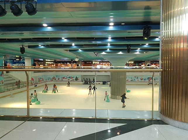 Ice rink inside landmark 81