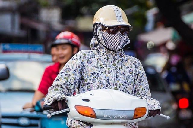 Women on motorbike