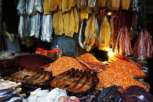 Where to stay in ho chi minh city: Dried fish at a market