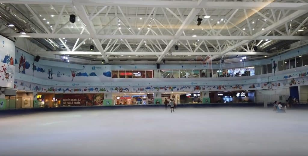 ice rink in vincom
