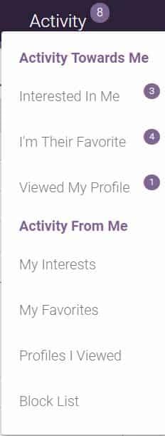 activities tab
