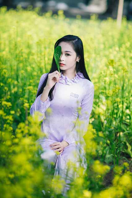 Vietnamese girl wearing an ao dai: meet girls in ho chi minh city