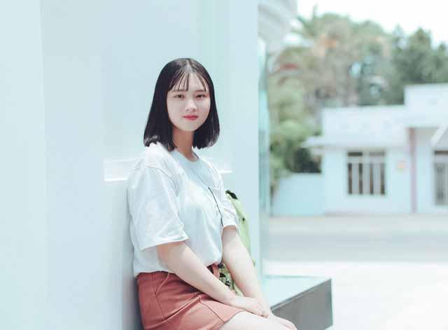 Vietnamese girl in white t-shirt
