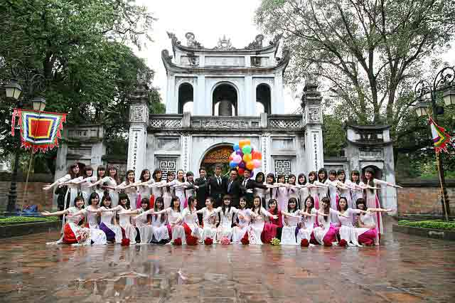 Group photo for Vietnamese marriage agency