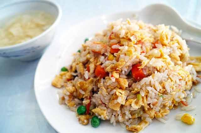 Chinese food: fried rice