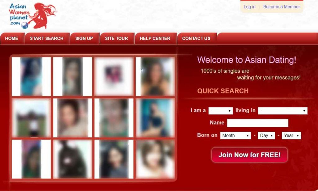 Asian women planet homepage