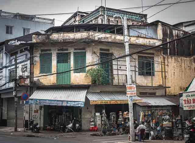 Near empty street in Vietnam