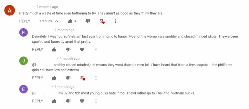 foreigners complaining about Vietnamese girls