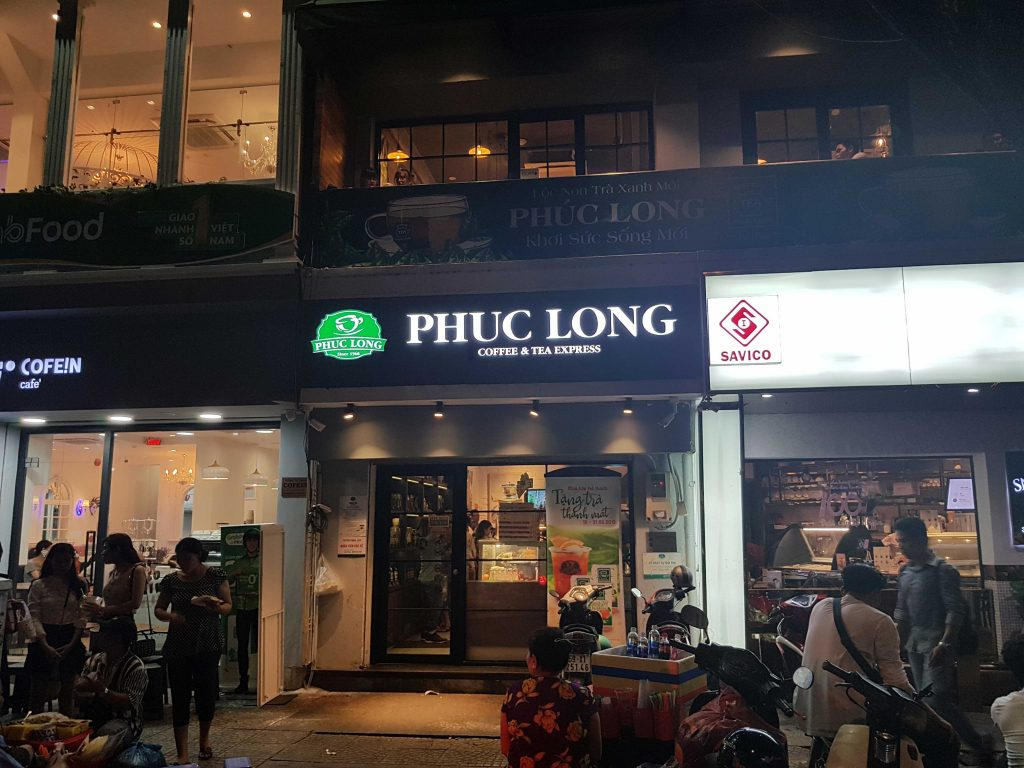 Phuc long coffee shop first date in ho chi minh city