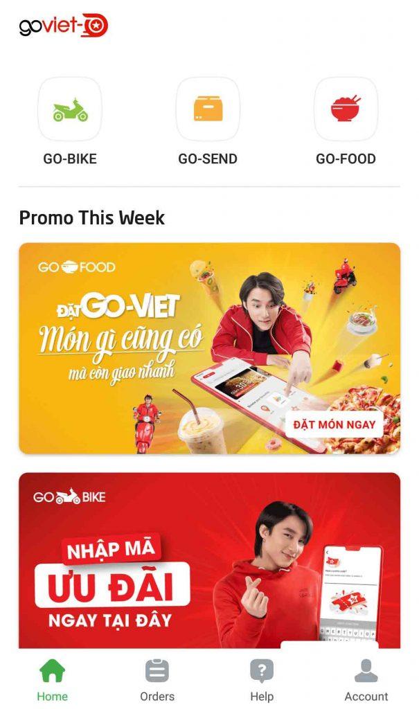 Go Viet Home Screen