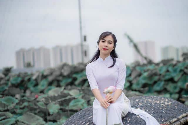 Vietnamese girl looking at you