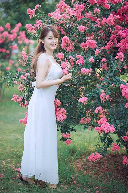 Vietnamese girl wearing blouse