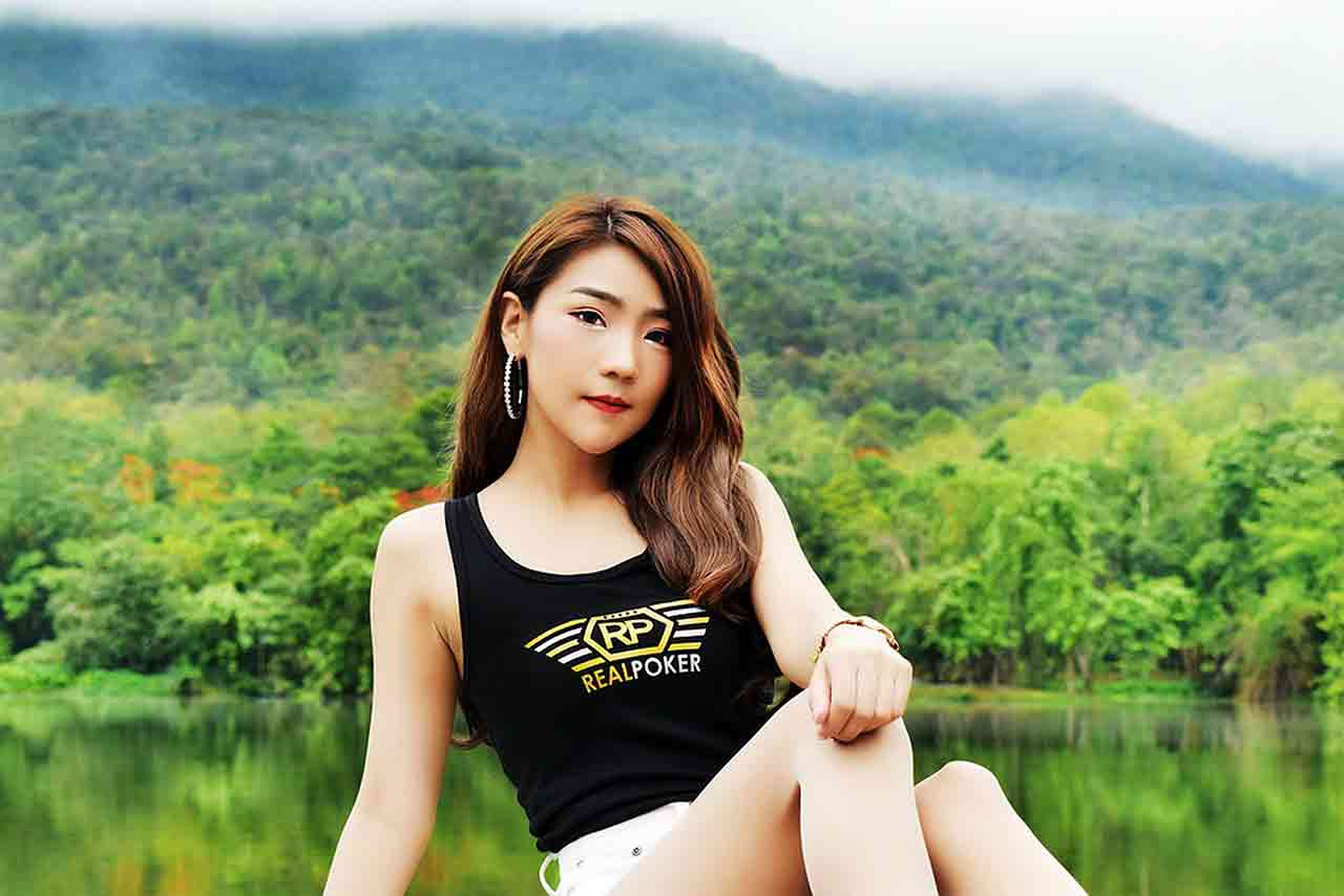 Asian girl wearing tank top