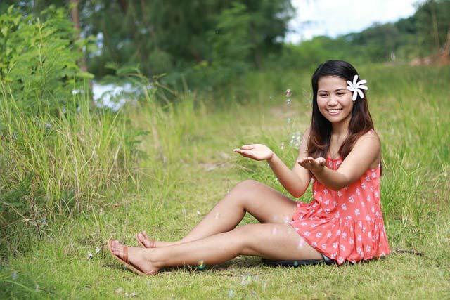 Filipino women having fun