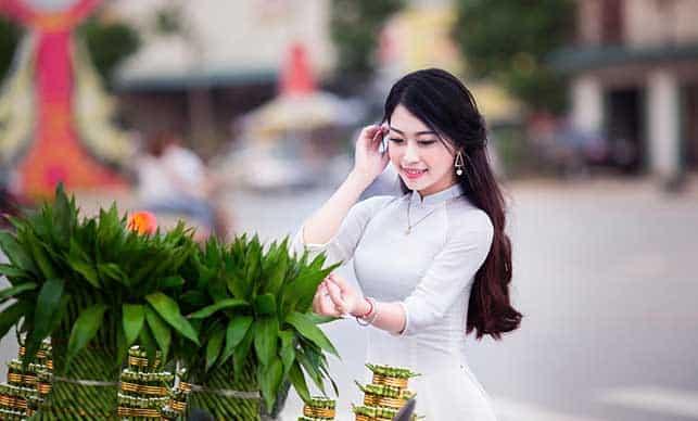 girl picking plants