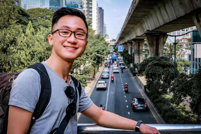 Asian guy in bangkok