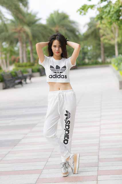 Hanoi girl wearing adidas