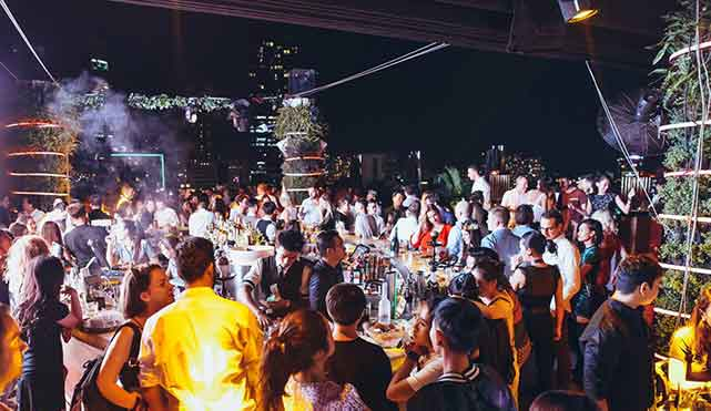 Glow Skybar: ho chi minh city nightlife