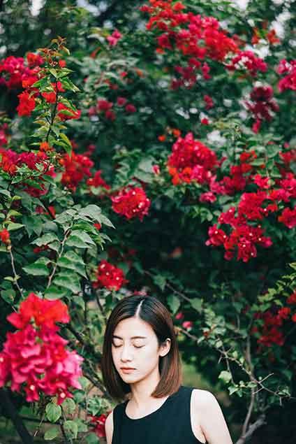Vietnamese girl in black shirt