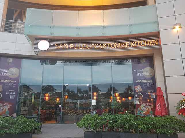 dating cost in vietnam: high end restaurants: san fu lou