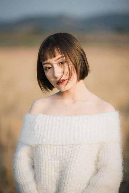 Vietnamese girl with short hair