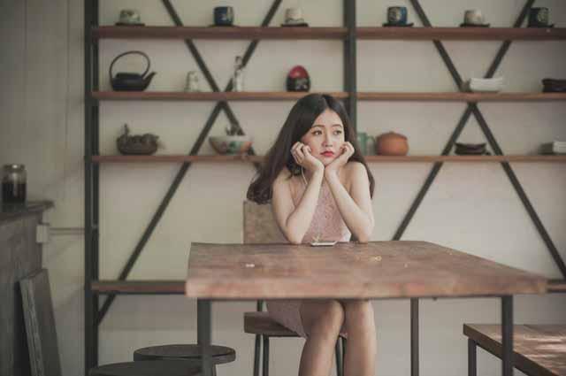 Vietnamese girl bored